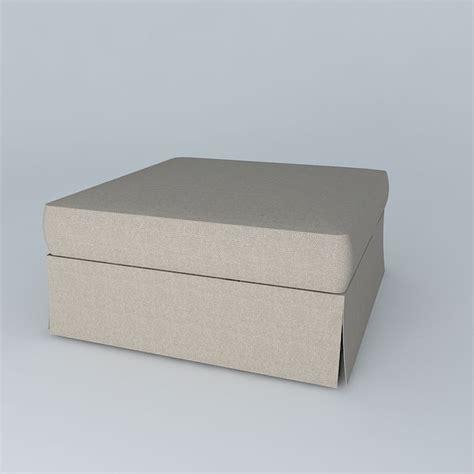 slip cover for ottoman slip cover ottoman 3d model max obj 3ds fbx stl dae