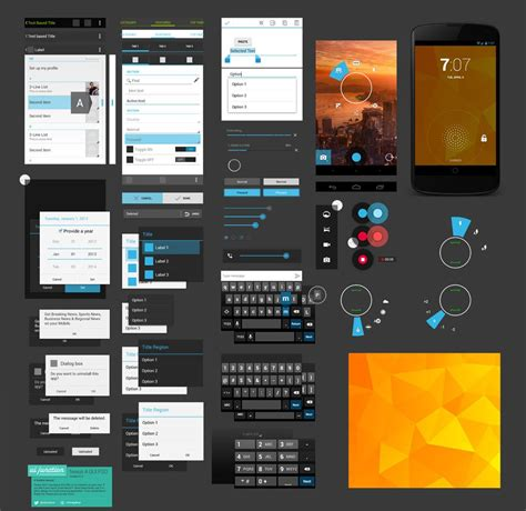 for android free 40 free gui templates for android and iphone creativecrunk