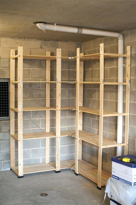 diy garage shelving units sturdy shelf plans venidami us