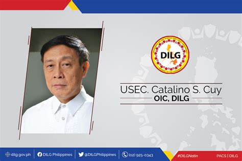 statement of undersecretary catalino s cuy as new dilg