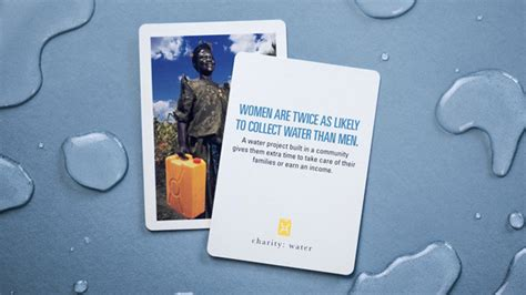 Charity Water Gift Card - charity water playing cards by theory11