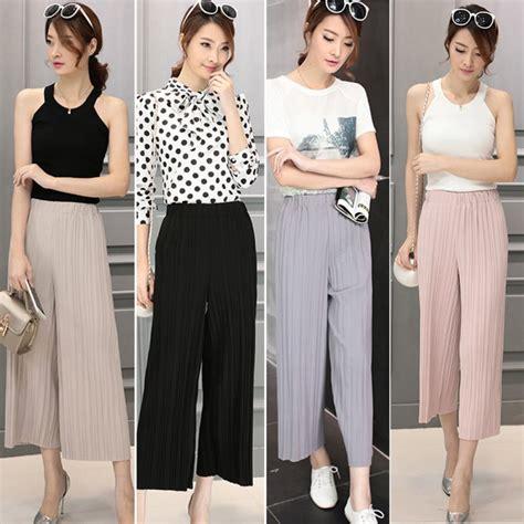 Kulot Stripe White 13 model celana panjang wanita yang lagi trend modis