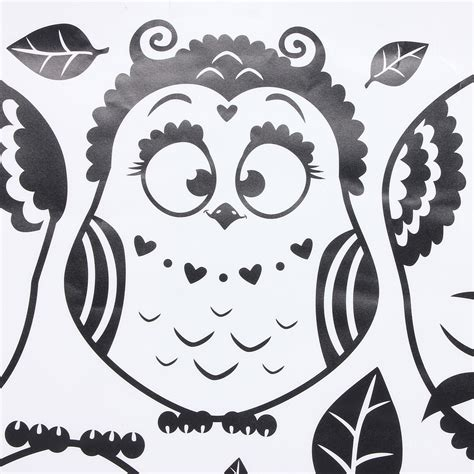 Owl Bedroom Decor Kids owl birds removable decal mural kids nursery bedroom decor
