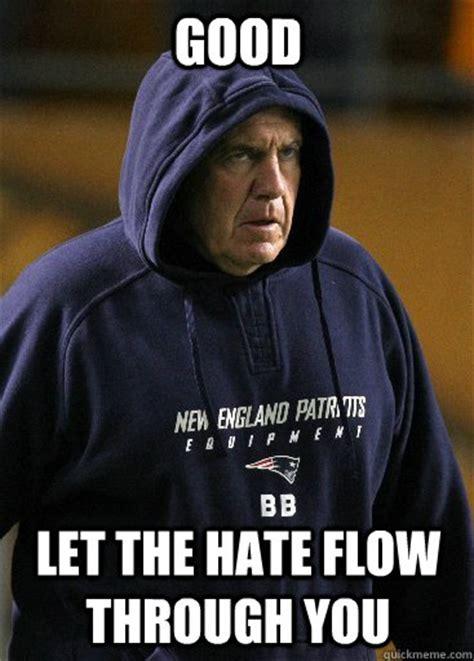 Bill Belichick Meme - good let the hate flow through you emperor belichick