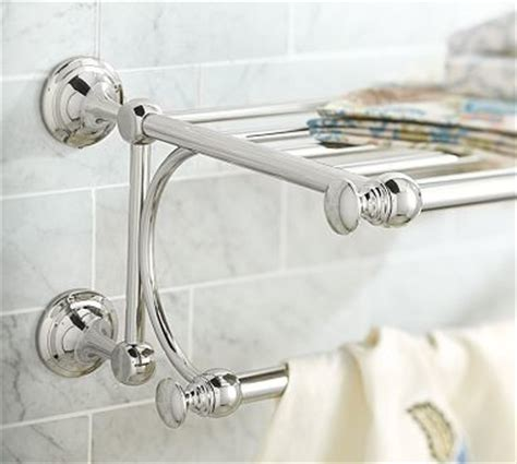 Pottery Barn Towel Racks by Mercer Rack Polished Nickel Finish Traditional