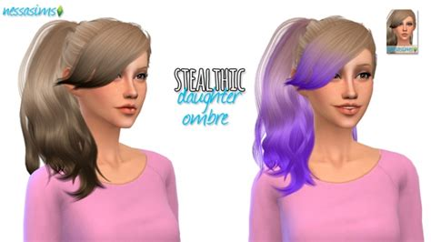 sims 4 ombre hair stealthic daughter ombre at nessa sims 187 sims 4 updates
