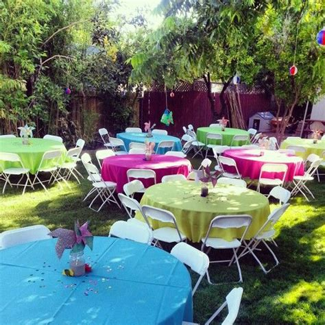 how to set up a backyard party luau party set up halloween pinterest