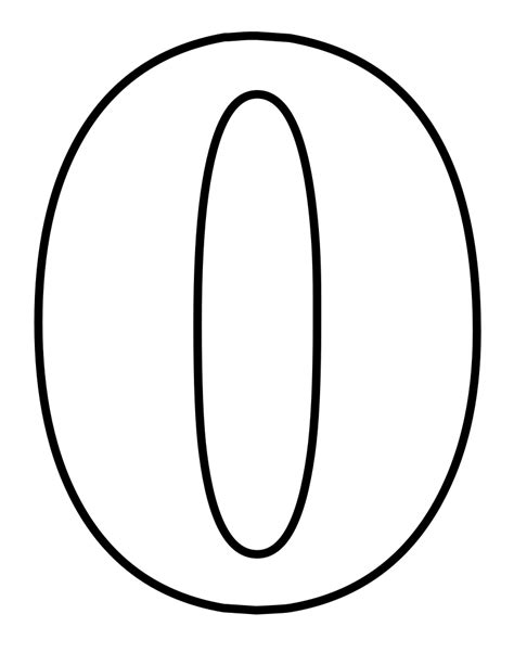 Number 0 Coloring Page by File Classic Alphabet Numbers 0 At Coloring Pages For
