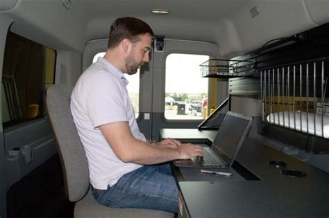Transit Desk by Lots Of Room In This Ford Transit Mid Roof Mobile