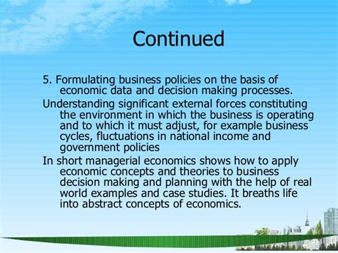 Managerial Economics Ppt For Mba by Managerial Economics Scope Ppt Mba 2009