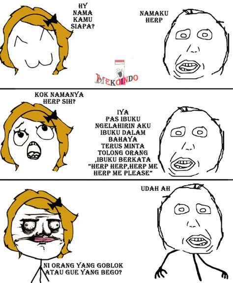 Meme Dan Rage Comic Indonesia - herp again meme rage comic indonesia