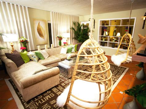 Retro Modern Living Room The Hanging Chairs In This Modern Hanging Chair Living Room