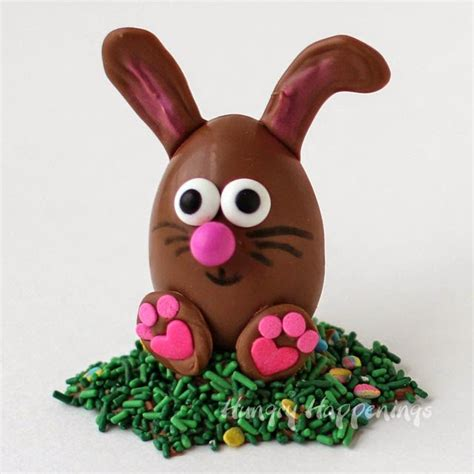 easter chocolate chocolate easter egg bunnies filled with peanut butter fudge