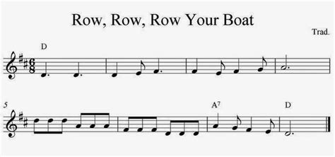 row row your boat do re mi m sheet for solo