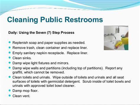 bathroom cleaning procedure evs training presentation final