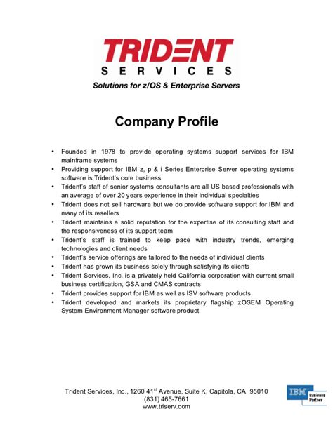 corporate profile templates company profile sle interestingpage