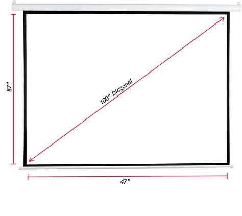 Manual Screen 1 1 96 Inch vivo 100 quot projector screen 100 inch diagonal