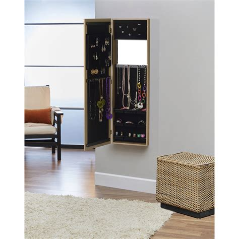 over the door hanging jewelry armoire over the door mirror armoire wall jewelry oak hanging over