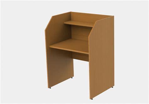 single sided study carrel desk h1200 x w886 x d700mm 238