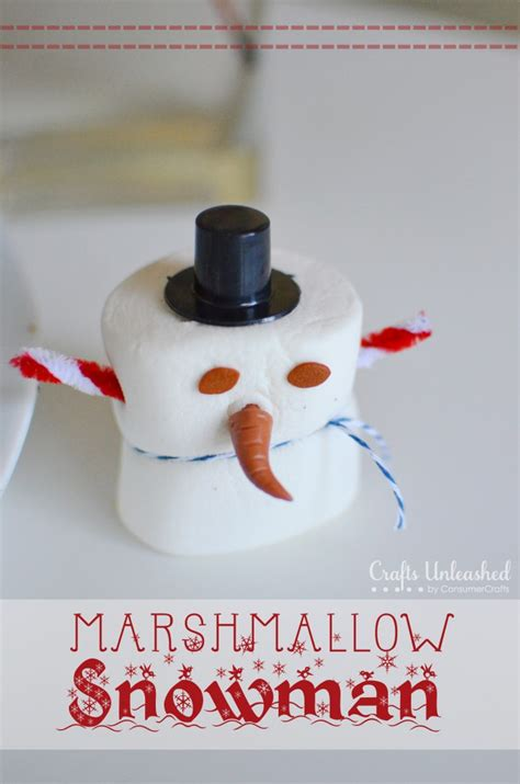marshmallow crafts snowman craft kits for