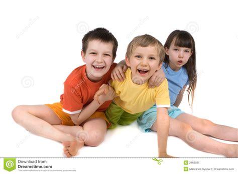 imagenes felices los tres tres ni 241 os felices imagen de archivo imagen 2166921