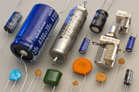 define capacitor value types of capacitors electrolytic variable capacitors