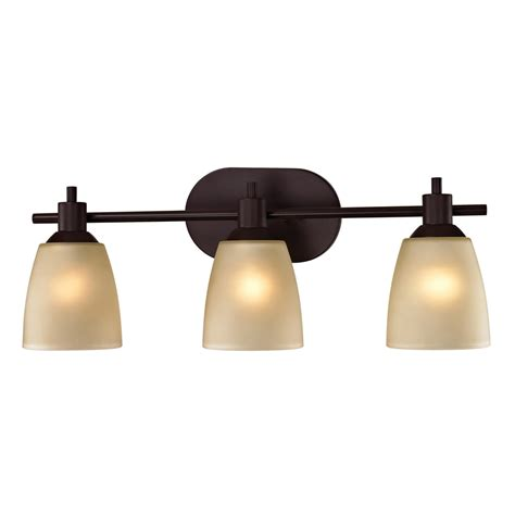 rubbed bronze bathroom lights shop westmore lighting 3 light fillmore rubbed bronze