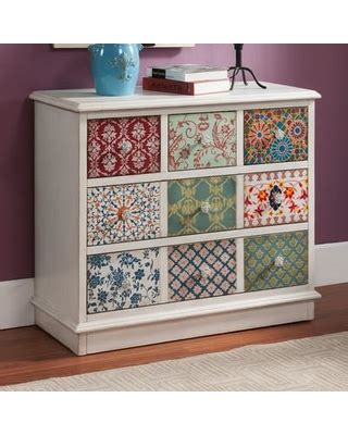 multi colored drawer chest don t miss this bargain jeffress multi colored patchwork