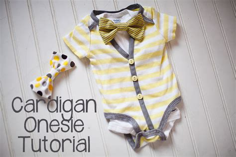 diy baby onesie with a bow tie card template cardigan onesie diy tutorial