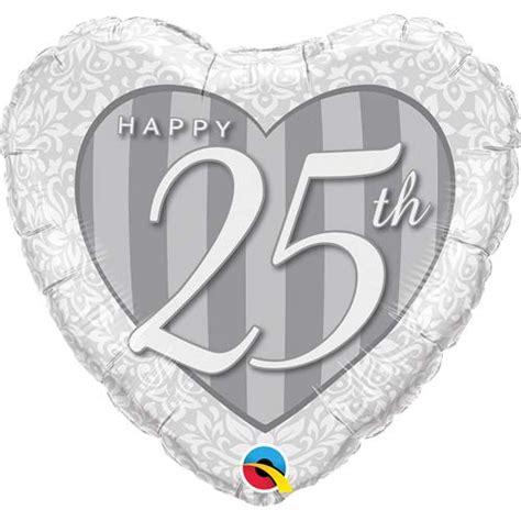 Balon Foil Mini Uk 25 Cm 18 inch 25th anniversary damask foil balloon 1