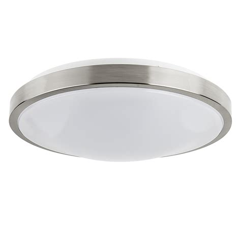 Led Ceiling Lighting Fixtures 14 Quot Flush Mount Led Ceiling Light W Brushed Nickel Housing 100 Watt Equivalent Dimmable