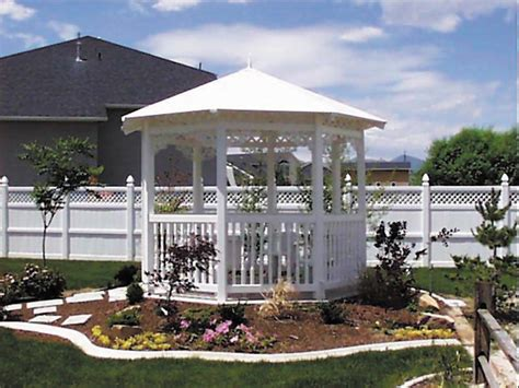 vinyl gazebo all vinyl gazebo fence factory