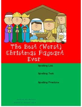 coloring pages for the best christmas pageant ever the best christmas pageant ever spelling activities by