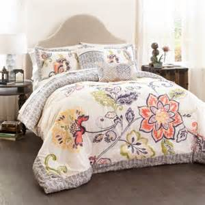 aster quilted comforter coral navy 5 piece set king