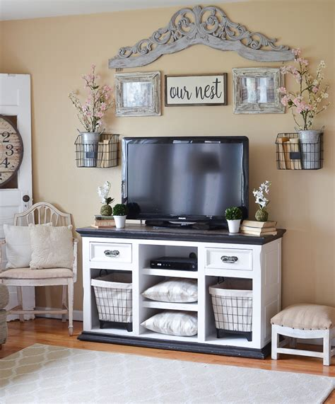 farmhouse style tv stand easy farmhouse style tv stand makeover vintage nest