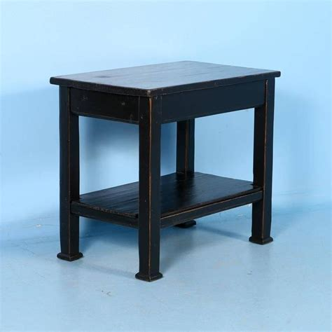 black side table with shelves country pine side table with shelf painted black circa