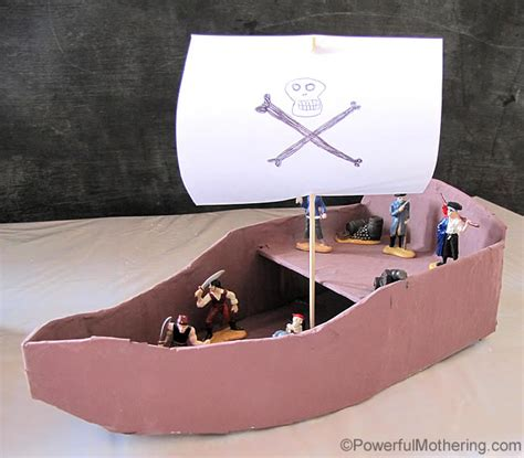 how to make a realistic paper boat diy pirate ship