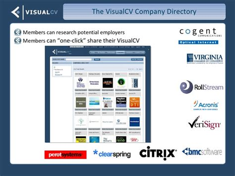 visualcv overview