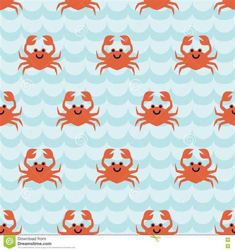 cute cartoon pattern seamless pattern with cute cartoon crabs stock vector