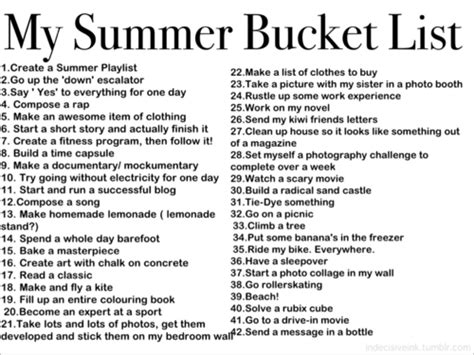 summer bucket list list for crazy teens apexwallpapers com bucket list ideas for teenage girls tumblr www imgkid