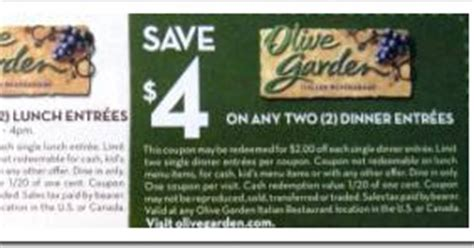 olive garden coupons in newspaper olive garden smart source coupons think n save