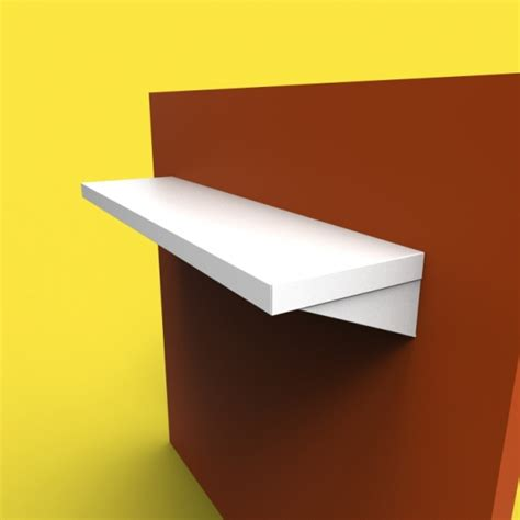 Plain White Shelves Stainless Steel Shelves Sh1 Design Custom Metal Home