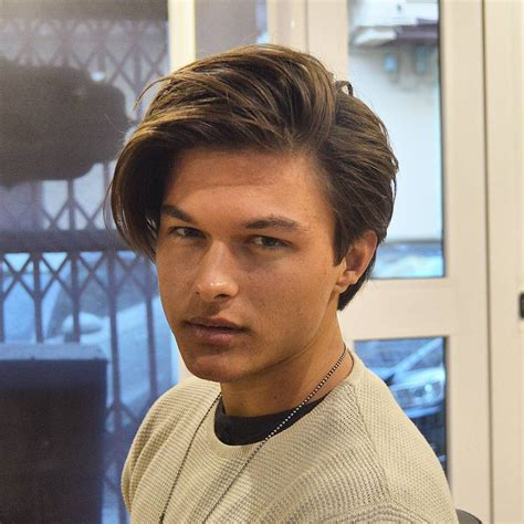 Center Part Mens Hairstly | best medium length men s hairstyles