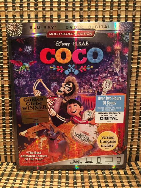 coco blu ray coco 3 disc blu ray dvd 2018 embossed slipcover disney