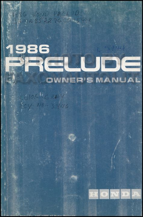 service manuals schematics 1986 honda prelude lane departure warning 1986 honda prelude owner s manual original