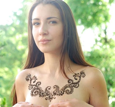 real tattoos that look like henna chest this looks like it s henna though
