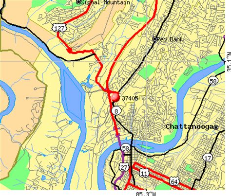 zip code map chattanooga tn download chattanooga tennessee zip codes map free