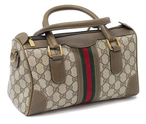 Tas Gucci Boston Mini Kanvas gucci mini boston monogram canvas handbag february estates auction day one