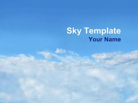 Sky Powerpoint Template Cloud Template For Powerpoint