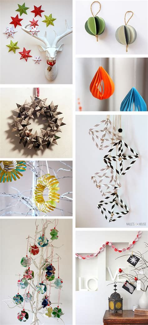 diy monday paper christmas ornaments ohoh blog
